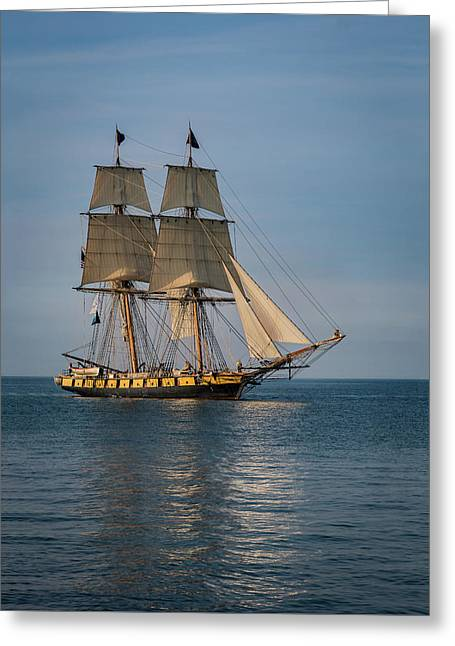 Sailing Into Port Greeting Card by Dale Kincaid