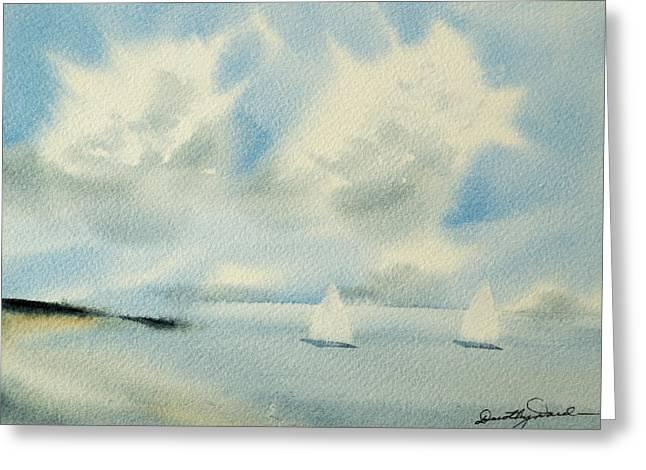 Sailing Into A Calm Anchorage Greeting Card