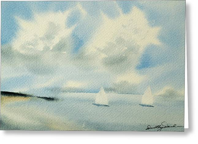 Sailing Into A Calm Anchorage Greeting Card