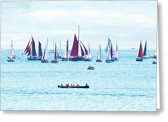 Sailing Into The Heat Haze Greeting Card by Terri Waters