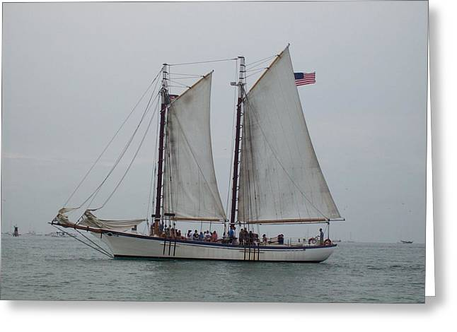 Greeting Card featuring the photograph Sailing Key West  by Nancy Taylor