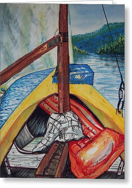 Sailing Lake Roosevelt Greeting Card