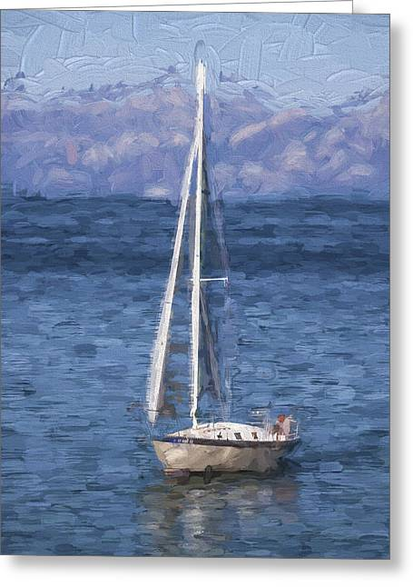 Sailing Lake Tahoe Greeting Card by Carol Leigh