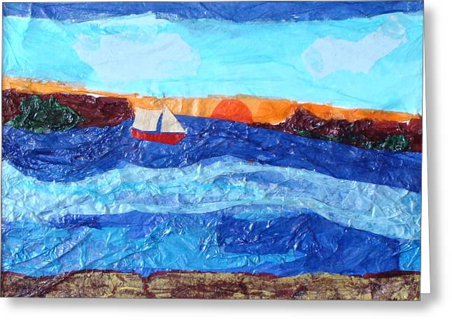 Sailing Greeting Card by Lisabeth Billingsley