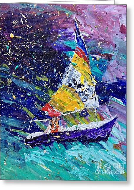Sailing Magic Greeting Card by Mary Cullen