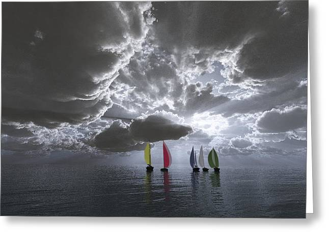 Sailing Greeting Card by Margaret Wingstedt