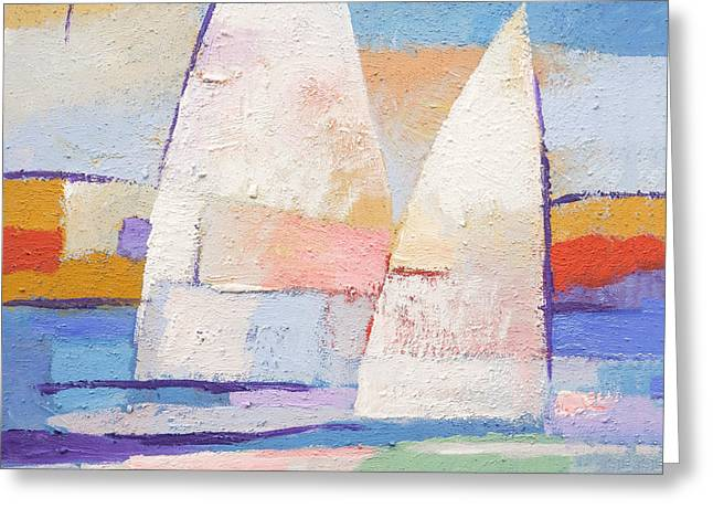 Sailing Mates Greeting Card by Lutz Baar