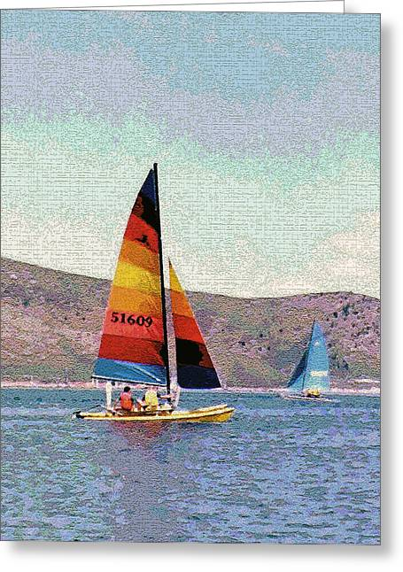 Sailing On A Utah Lake Greeting Card by Steve Ohlsen
