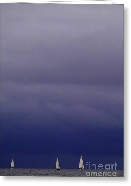 Sailing On Baltic Sea Greeting Card by Heiko Koehrer-Wagner