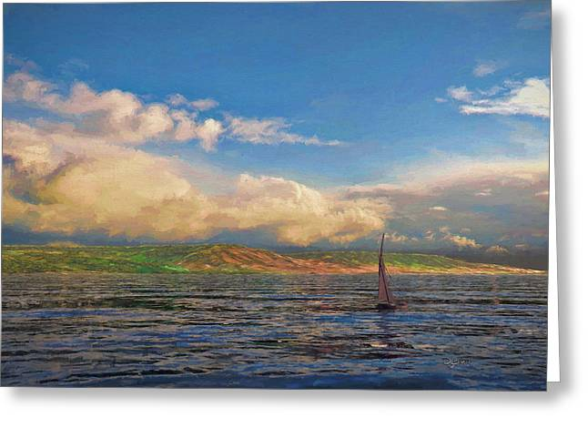 Sailing On Galilee Greeting Card