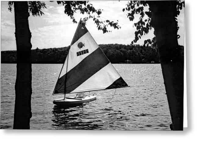 Sailing On Lake Dunmore No. 1-1 Greeting Card
