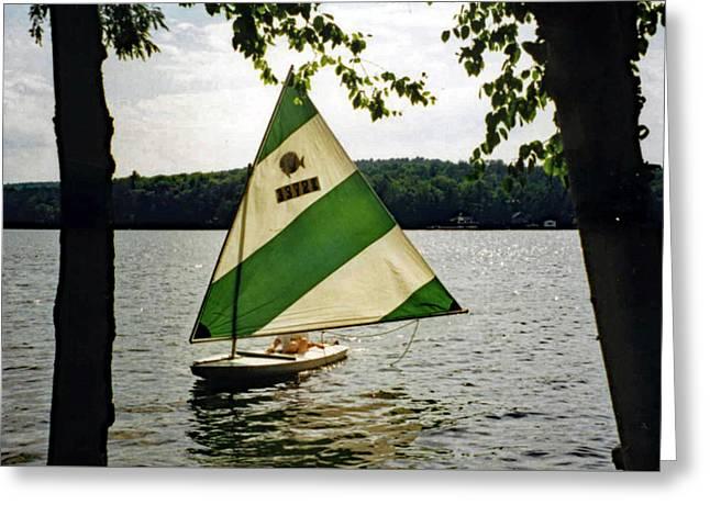 Sailing On Lake Dunmore No. 1 Greeting Card