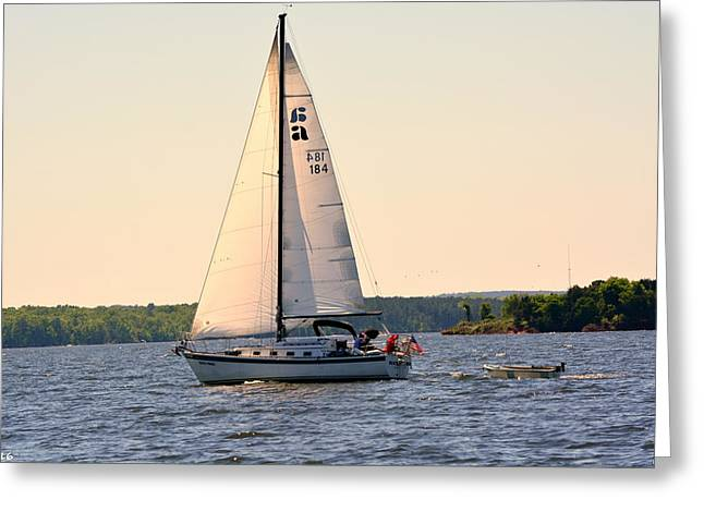 Sailing On Lake Murray Sc Greeting Card
