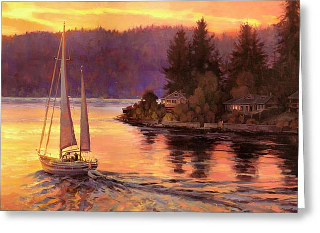 Sailing On The Sound Greeting Card