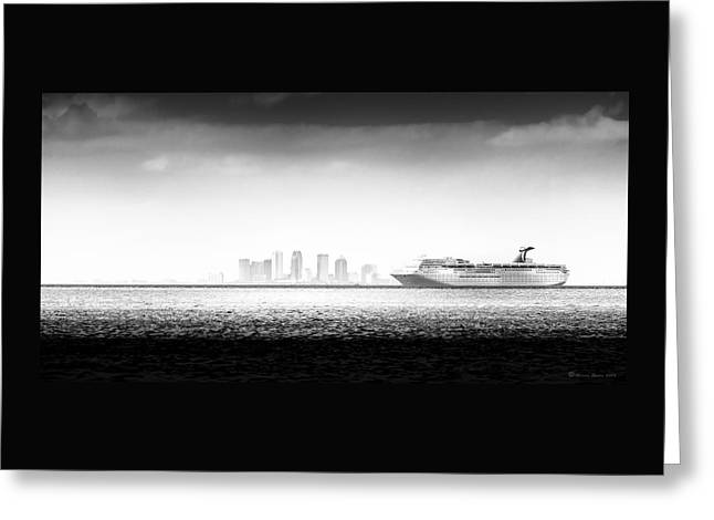 Sailing Out Of Cigar City Greeting Card