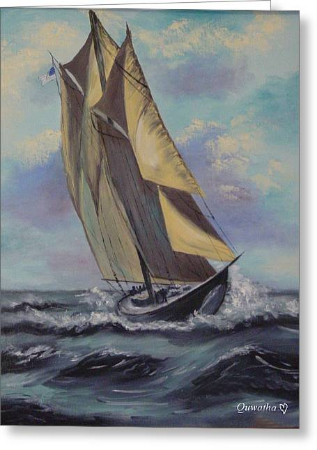 Sailing Greeting Card by Quwatha Valentine