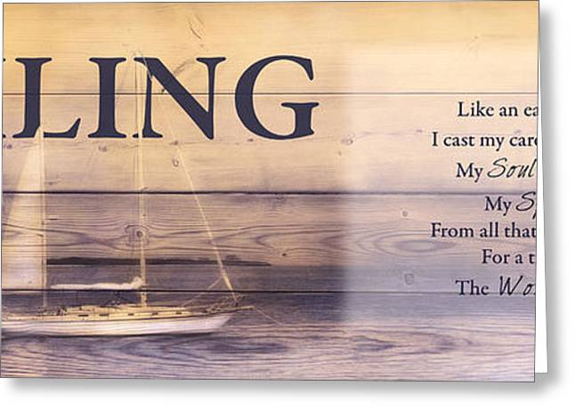 Greeting Card featuring the photograph Sailing by Robin-lee Vieira