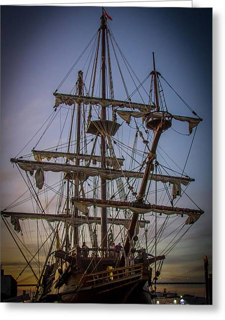 Sailing Ships 2 Shipping Art Greeting Card by Reid Callaway