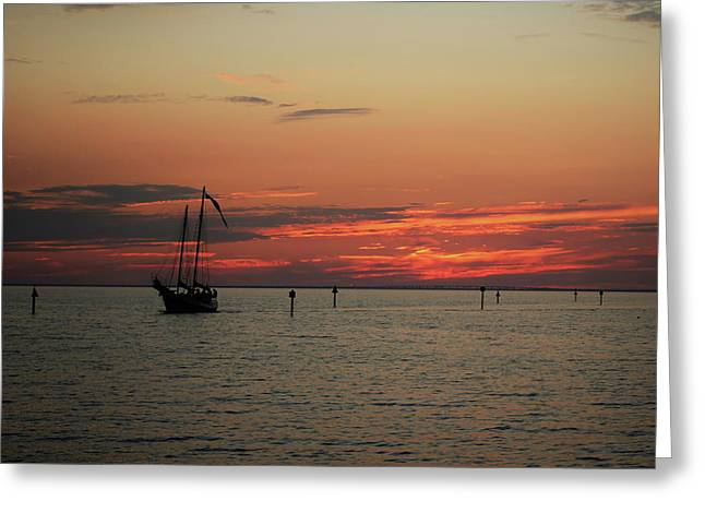 Sailing Sunset Greeting Card