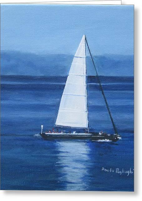 Sailing The Blues Greeting Card