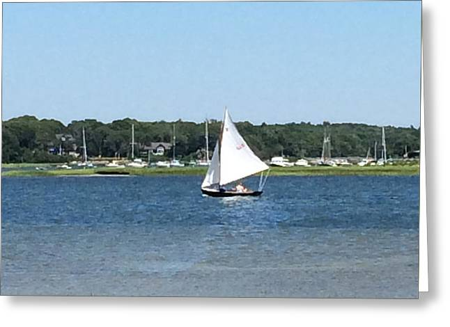 Sailing The Cape Greeting Card