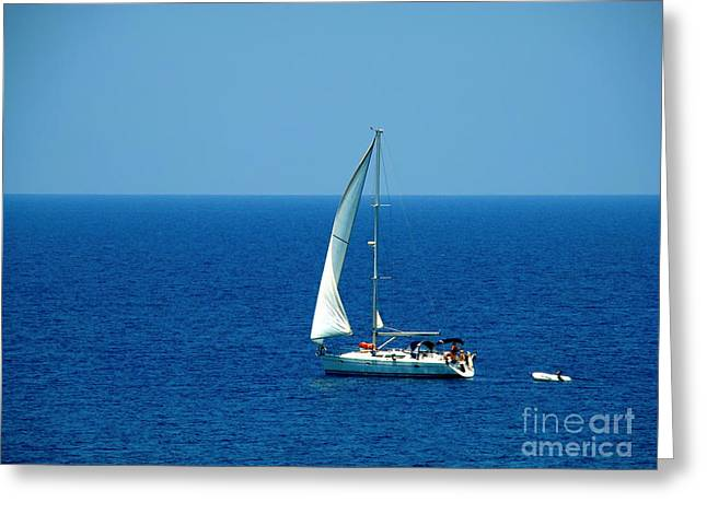 Sailing The Deep Blue Sea Greeting Card by Sue Melvin