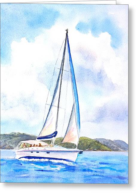 Sailing The Islands 2 Greeting Card