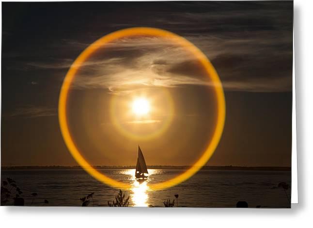 Sailing Through The Iris Greeting Card