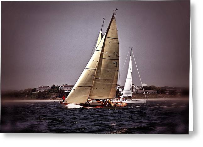 Sailing To Nantucket 005 Greeting Card