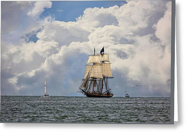 Greeting Card featuring the photograph Sailing To Port by Dale Kincaid