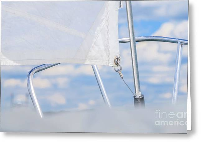 Sailing To The Clouds Greeting Card