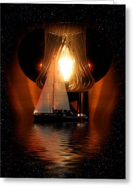 Sailing Under The Stars Greeting Card by Gravityx9  Designs