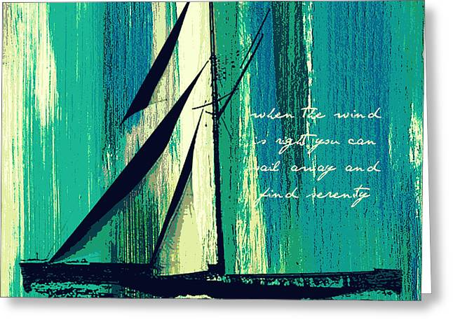 Sailing V1 Greeting Card