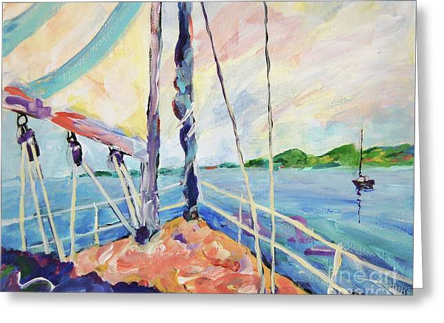 Sailing - Wind In Your Face Greeting Card