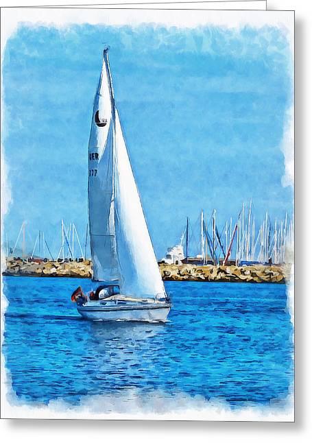 Sailling Ship Greeting Card