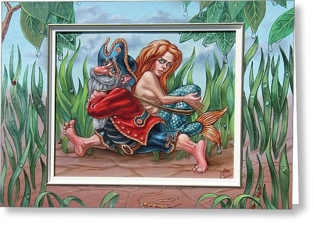 Sailor And Mermaid Greeting Card