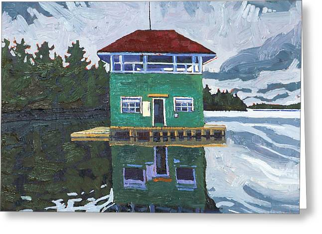 Sailors Club House Greeting Card by Phil Chadwick