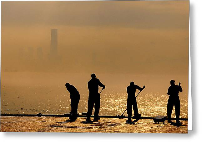 Sailors On Duty Greeting Card by Celestial Images