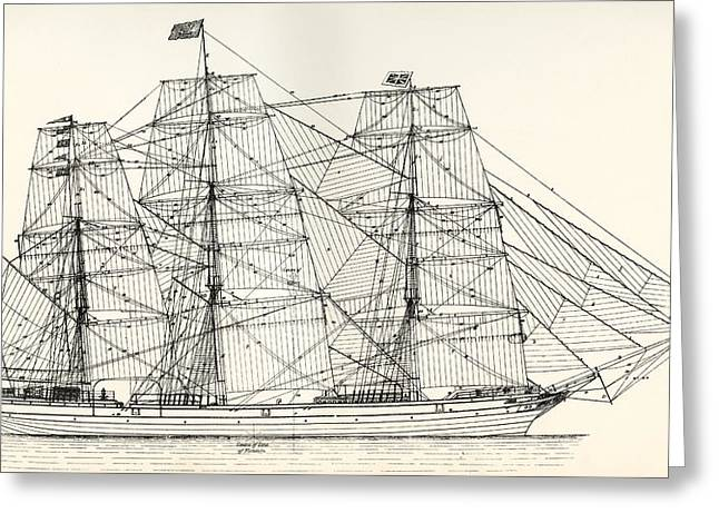 Sails And Rigging Of A Mid-19th Century Greeting Card