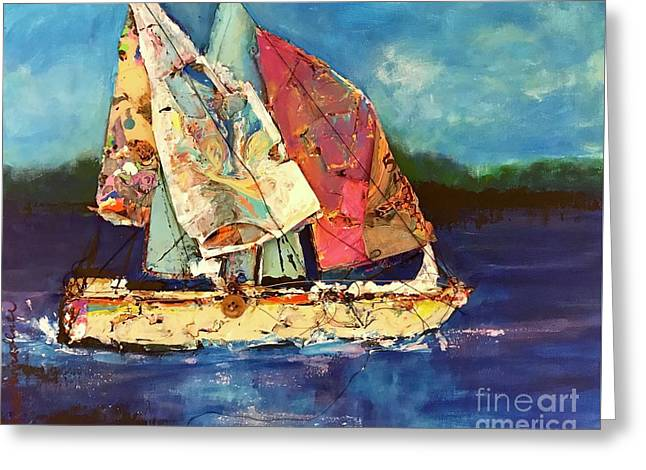 Sails Away Greeting Card