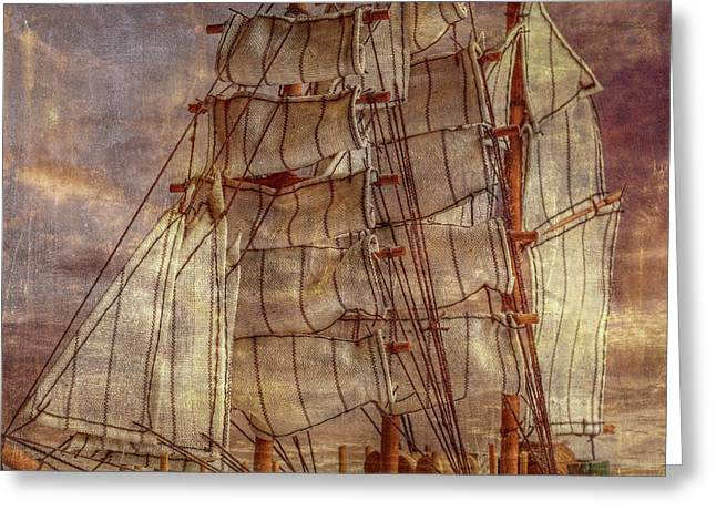 Sails In The Wind Greeting Card by Randy Steele