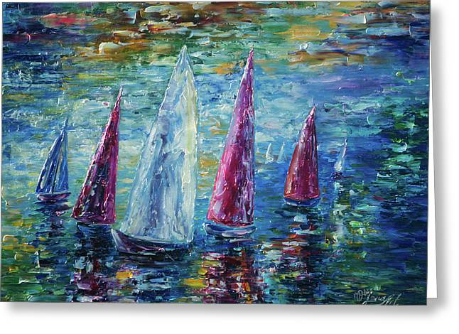 Sails To-night Greeting Card