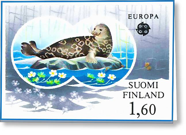 Saimaa Ringed Seal Greeting Card