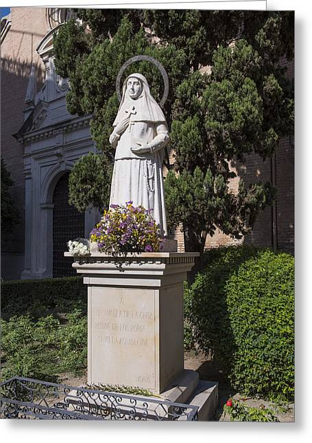 Saint Angela De La Cruz - Seville Spain Greeting Card by Jon Berghoff