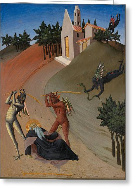 Saint Anthony Abbot Tormented By Demons  Greeting Card