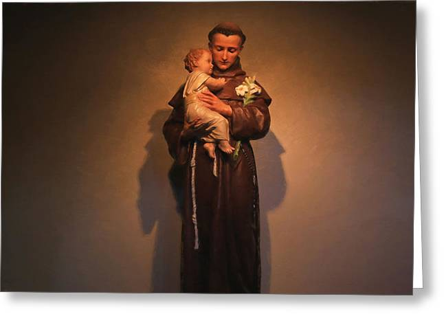 Saint Anthony Greeting Card by Donna Kennedy