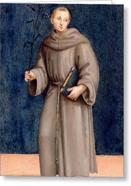 Saint Anthony Of Padua Greeting Card by Raphael