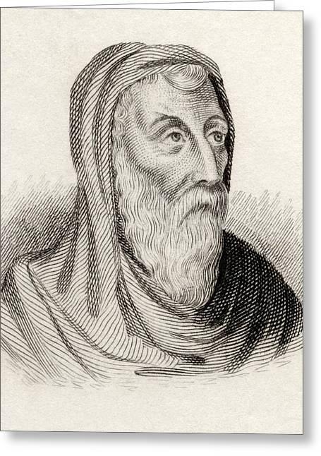 Saint Athanasius Of Alexandria Born Greeting Card by Vintage Design Pics
