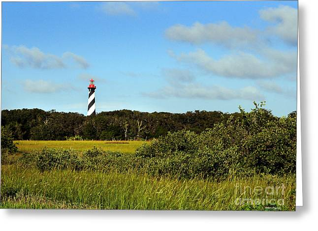 Saint Augustine Lighthouse Greeting Card by Addison Fitzgerald