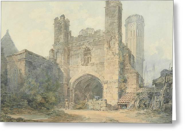 Saint Augustine's Gate Canterbury Greeting Card by Joseph Mallord William Turner